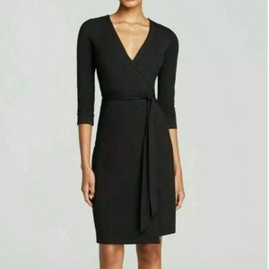 Diane Von Furstenberg Black Julian Two Wrap Dress